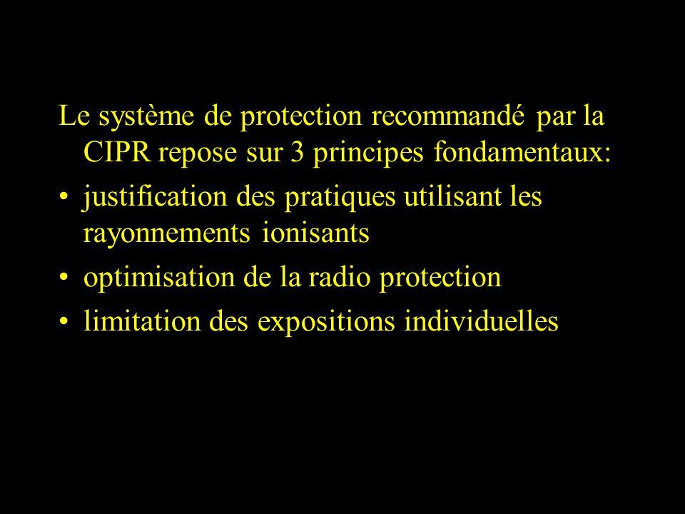 Le système de protection recommandé par la CIPR repose sur 3 principes fondamentaux: