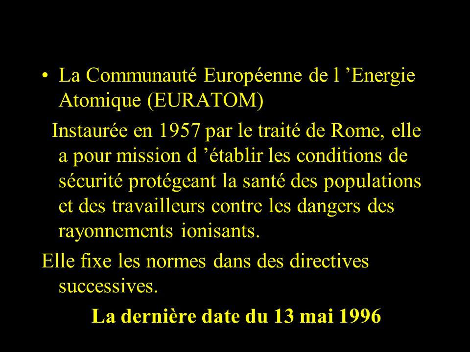 La Communauté Européenne de l 'Energie Atomique (EURATOM)