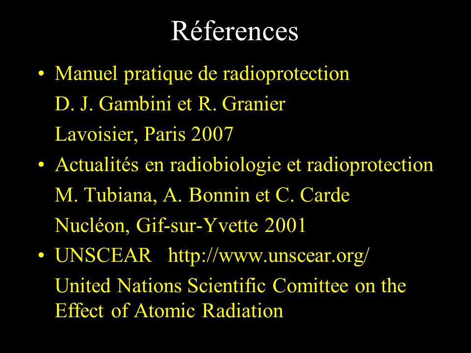 Réferences Manuel pratique de radioprotection