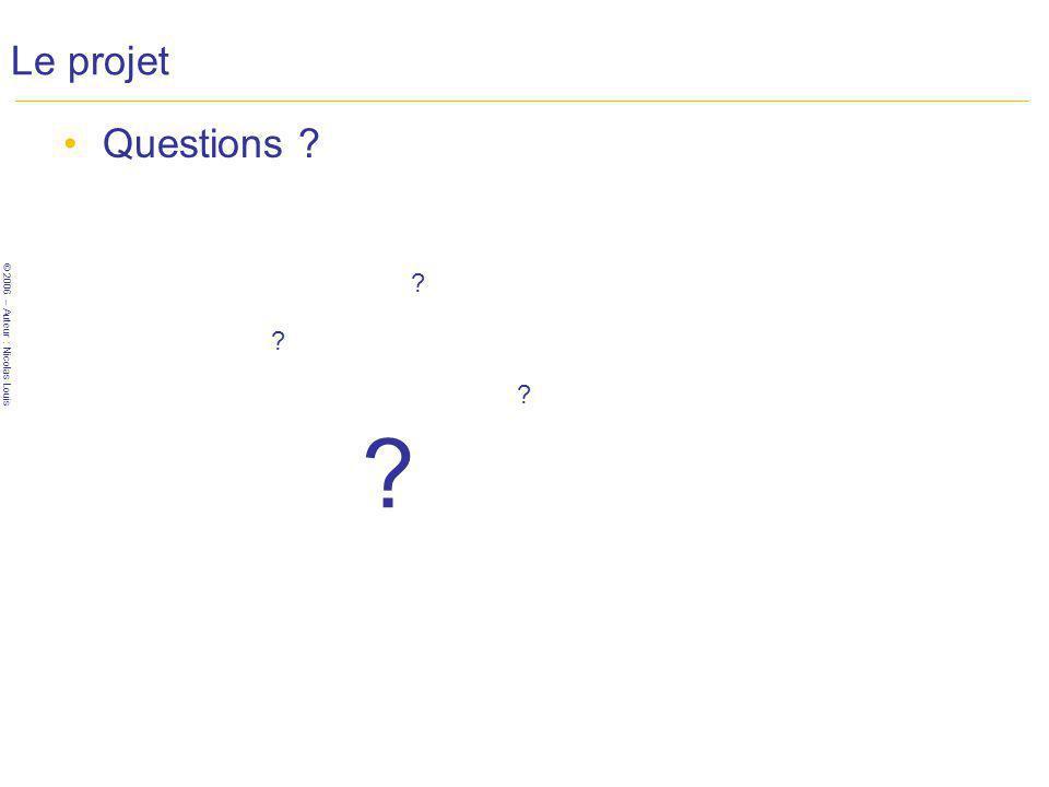 Le projet Questions