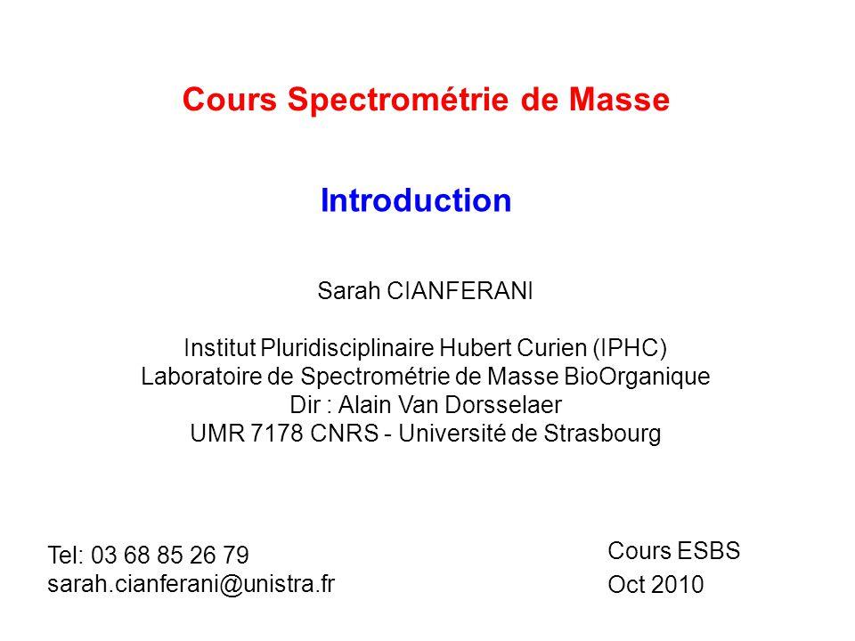 Cours Spectrométrie de Masse