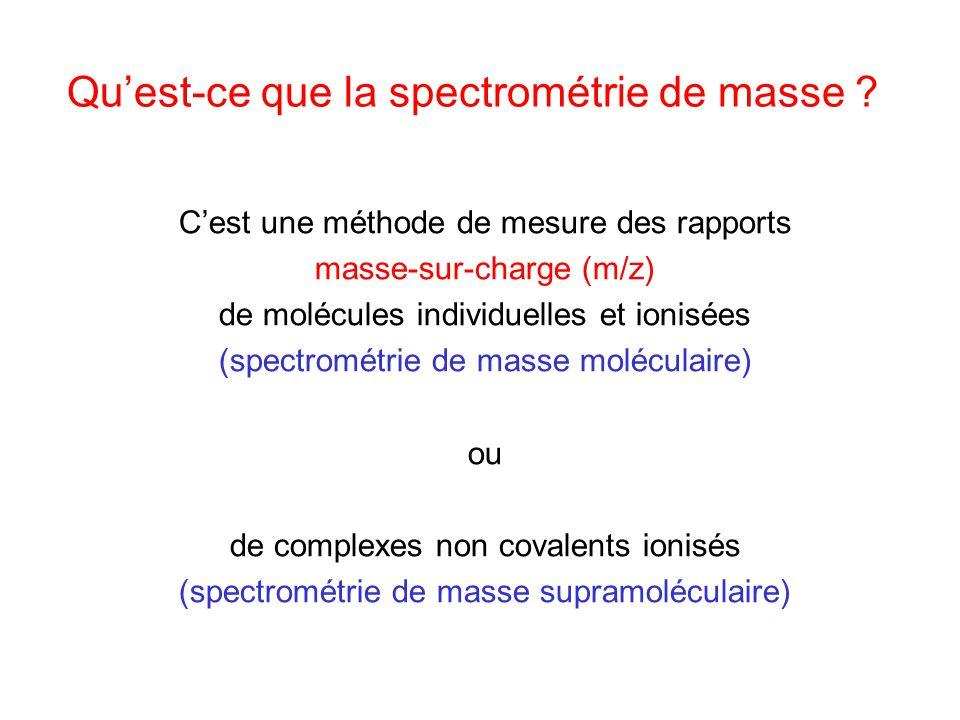 Qu'est-ce que la spectrométrie de masse