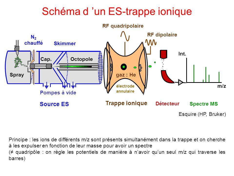 Schéma d 'un ES-trappe ionique