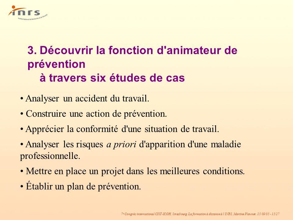 3. Découvrir la fonction d animateur de prévention