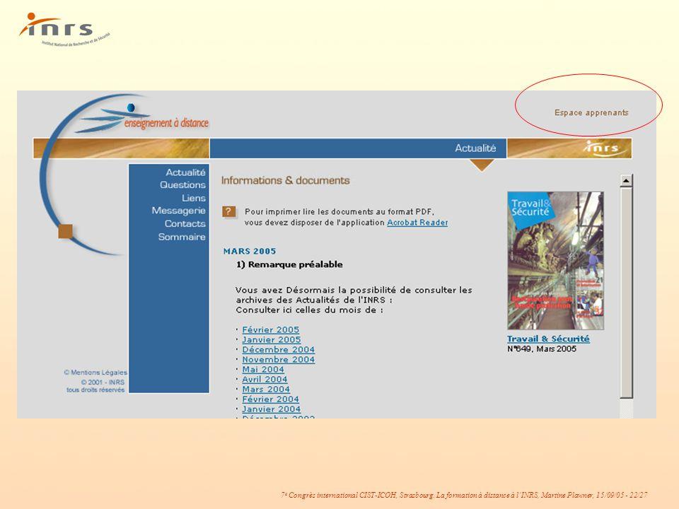Page d'accueil de l'espace public*.