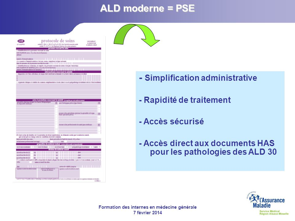 - Simplification administrative