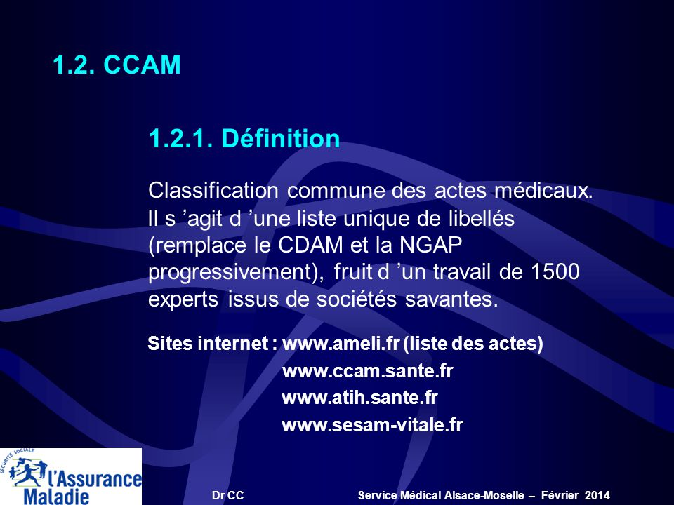 Classification commune des actes médicaux.