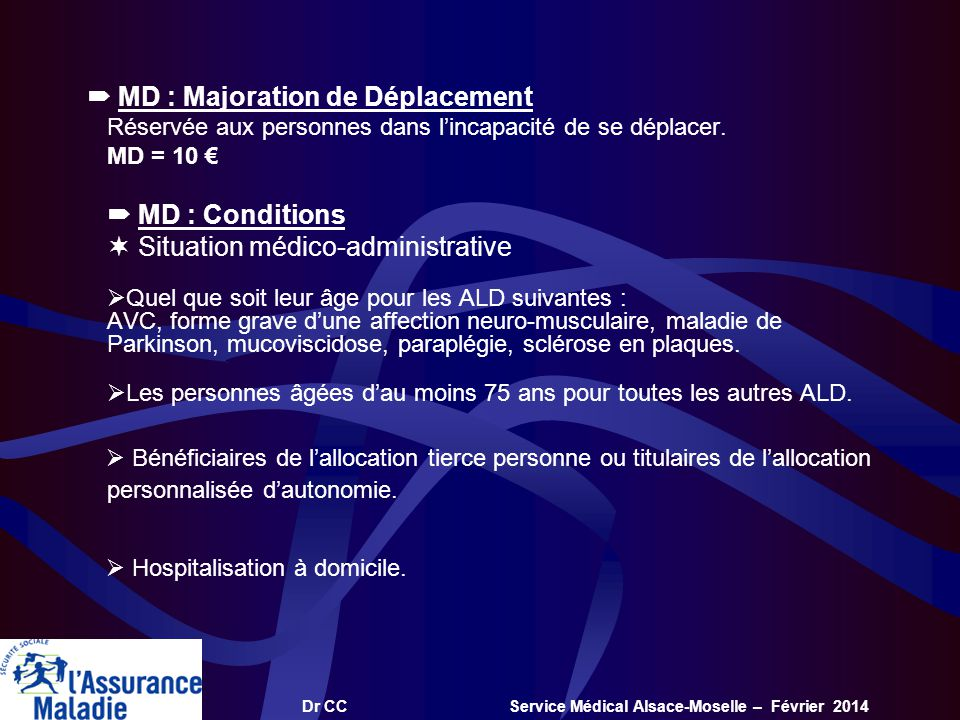  Situation médico-administrative