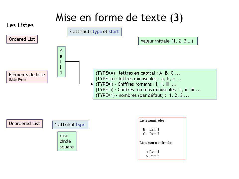 Mise en forme de texte (3)