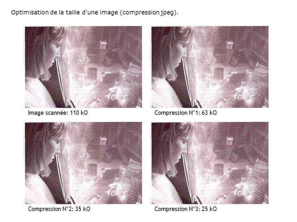 Optimisation de la taille d une image (compression jpeg).