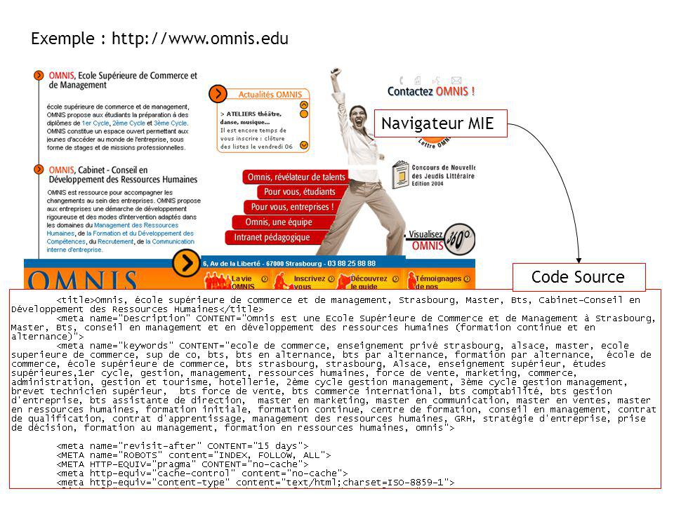 Exemple : http://www.omnis.edu
