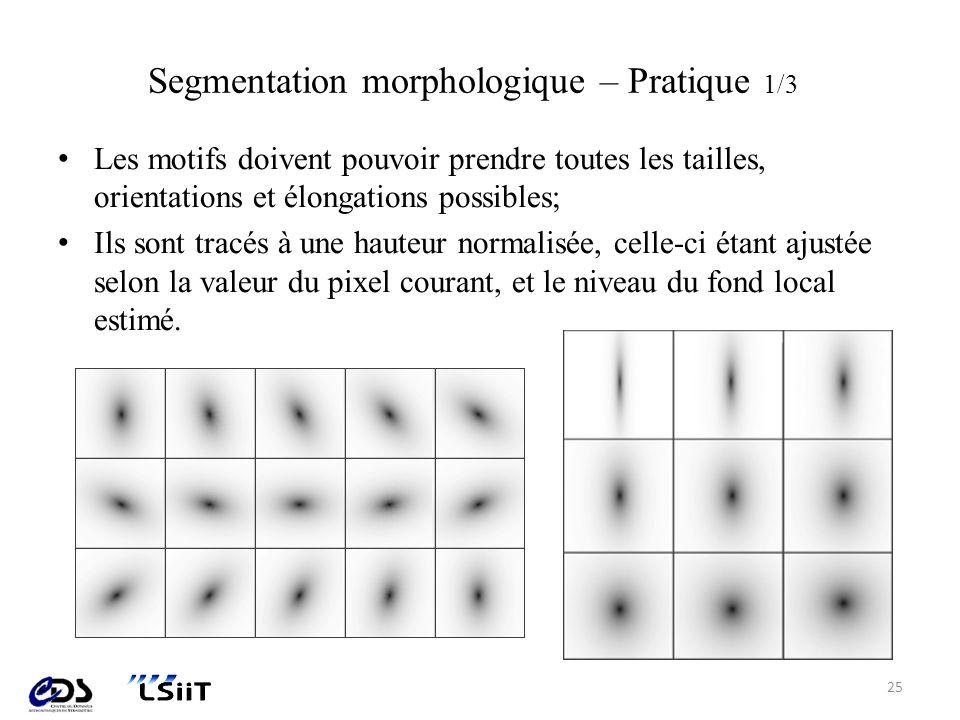 Segmentation morphologique – Pratique 1/3