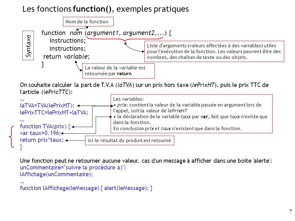 Les fonctions function(), exemples pratiques