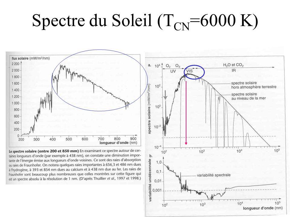 Spectre du Soleil (TCN=6000 K)