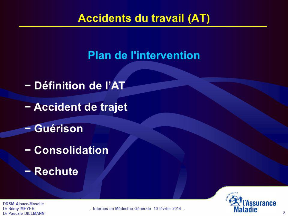 Accidents du travail (AT)
