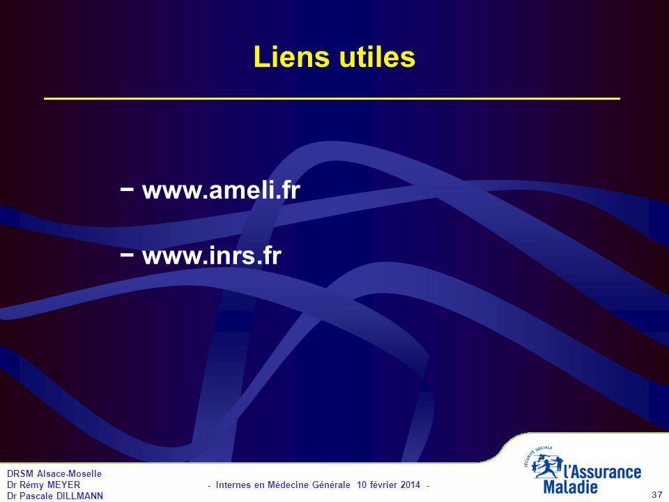 Liens utiles − www.ameli.fr − www.inrs.fr 01/04/2017