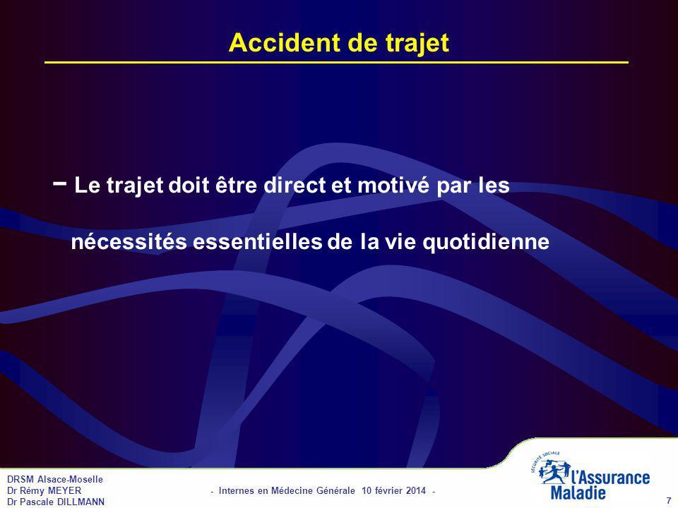 01/04/2017 Accident de trajet. − Le trajet doit être direct et motivé par les nécessités essentielles de la vie quotidienne.
