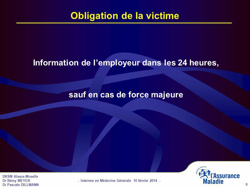 Obligation de la victime