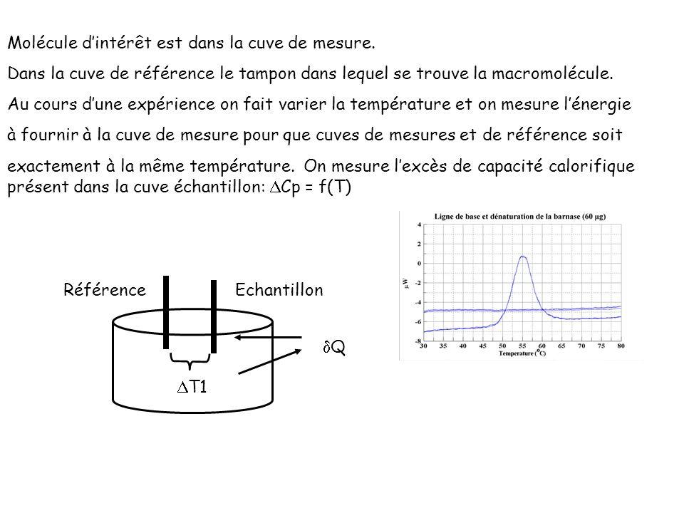 Molécule d'intérêt est dans la cuve de mesure.