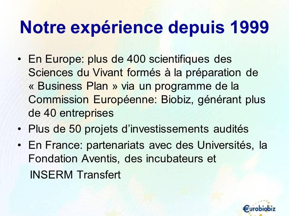Notre expérience depuis 1999