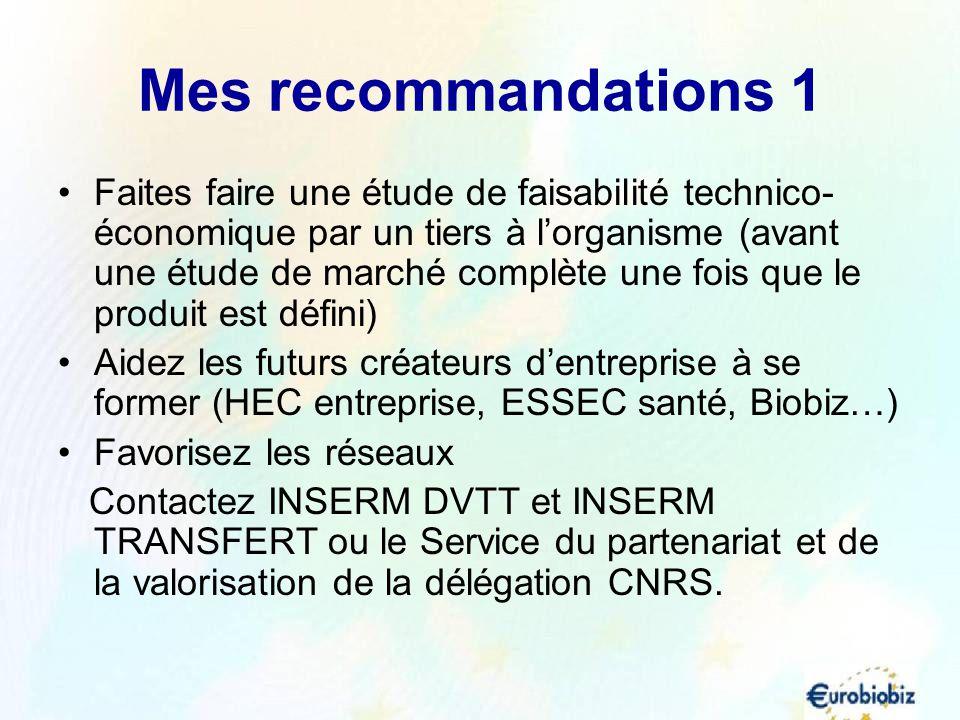 Mes recommandations 1