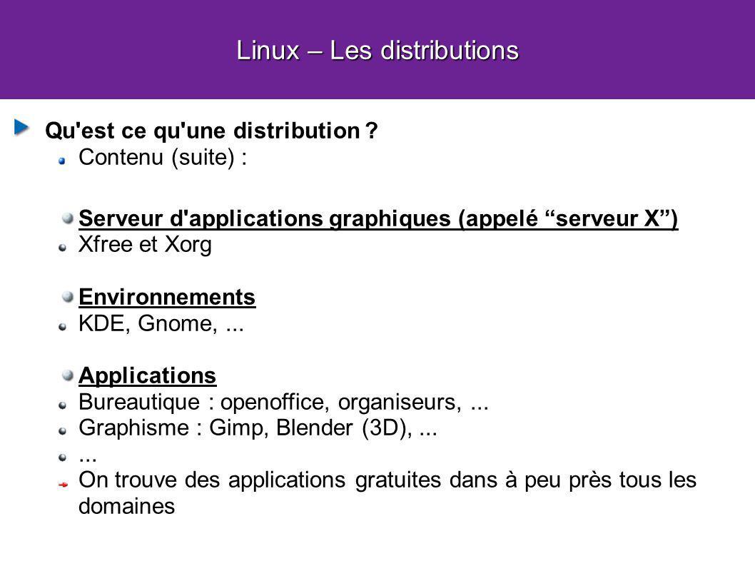 Linux – Les distributions