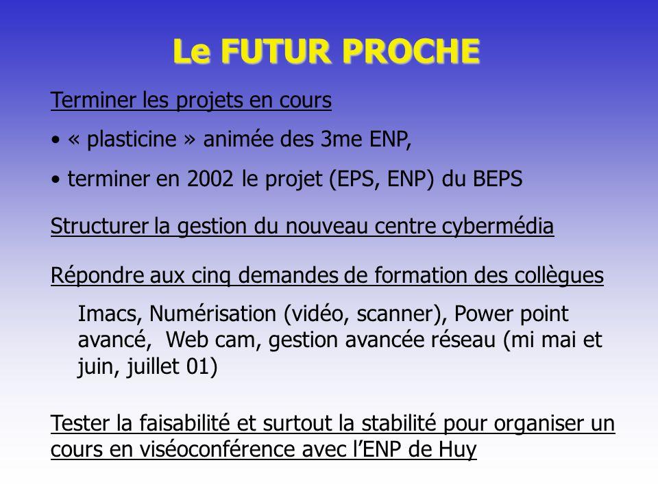Le FUTUR PROCHE Terminer les projets en cours