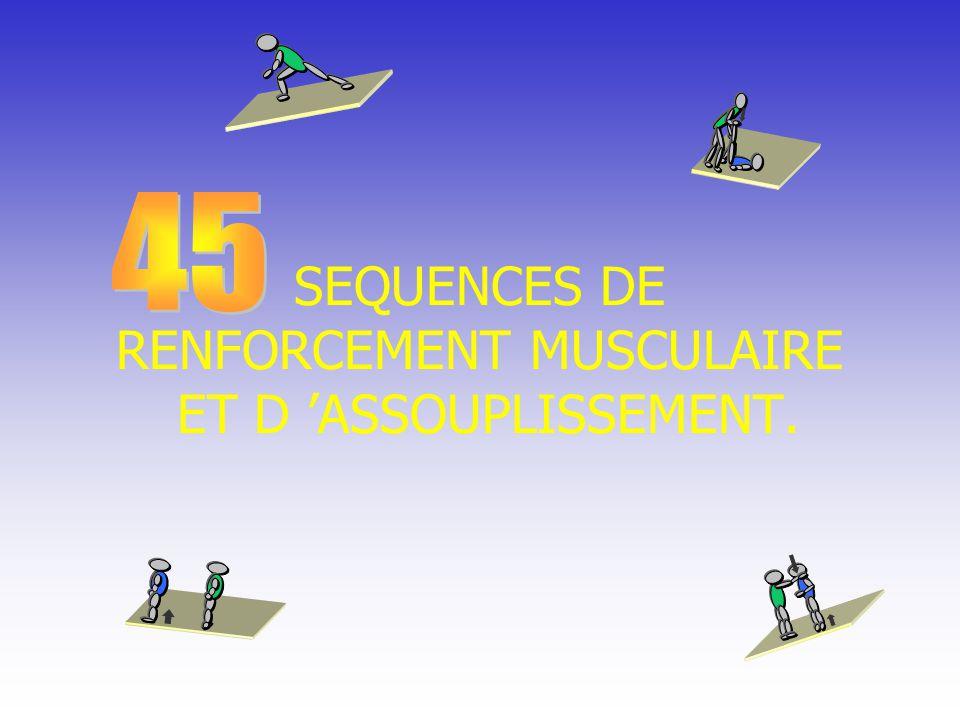 SEQUENCES DE RENFORCEMENT MUSCULAIRE ET D 'ASSOUPLISSEMENT.