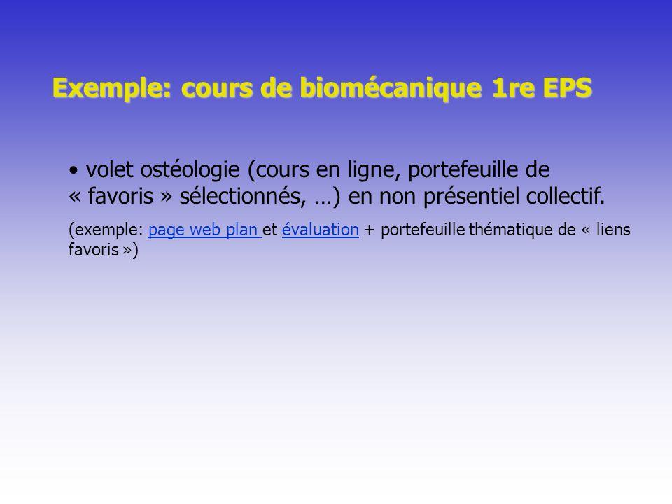 Exemple: cours de biomécanique 1re EPS