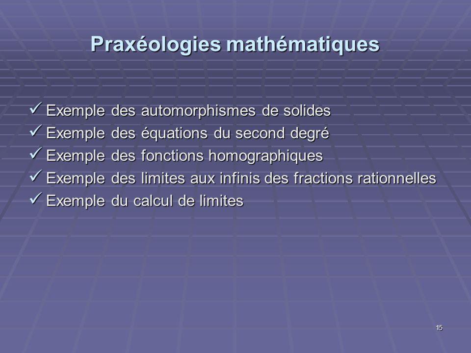 Praxéologies mathématiques
