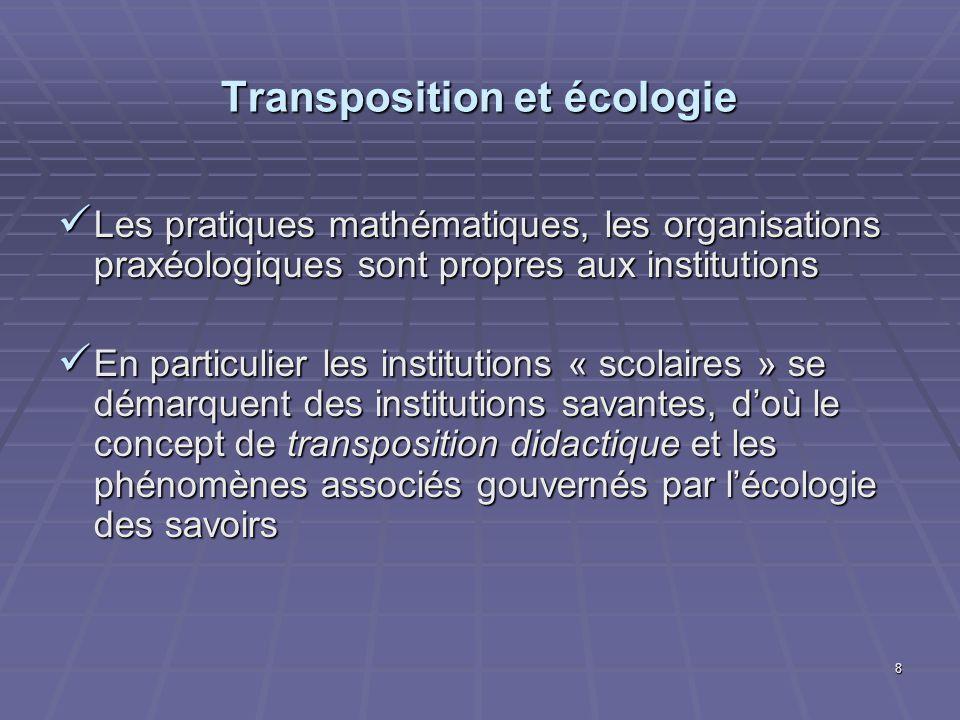 Transposition et écologie