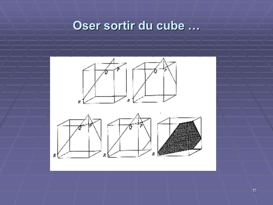 Oser sortir du cube …