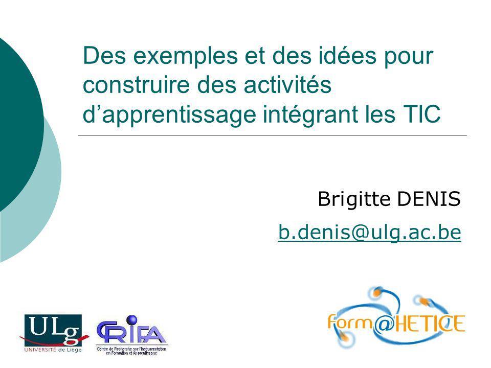 Brigitte DENIS b.denis@ulg.ac.be