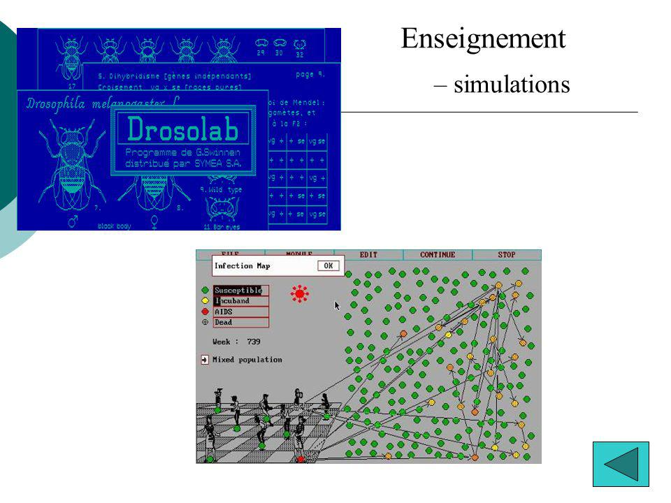 Enseignement simulations