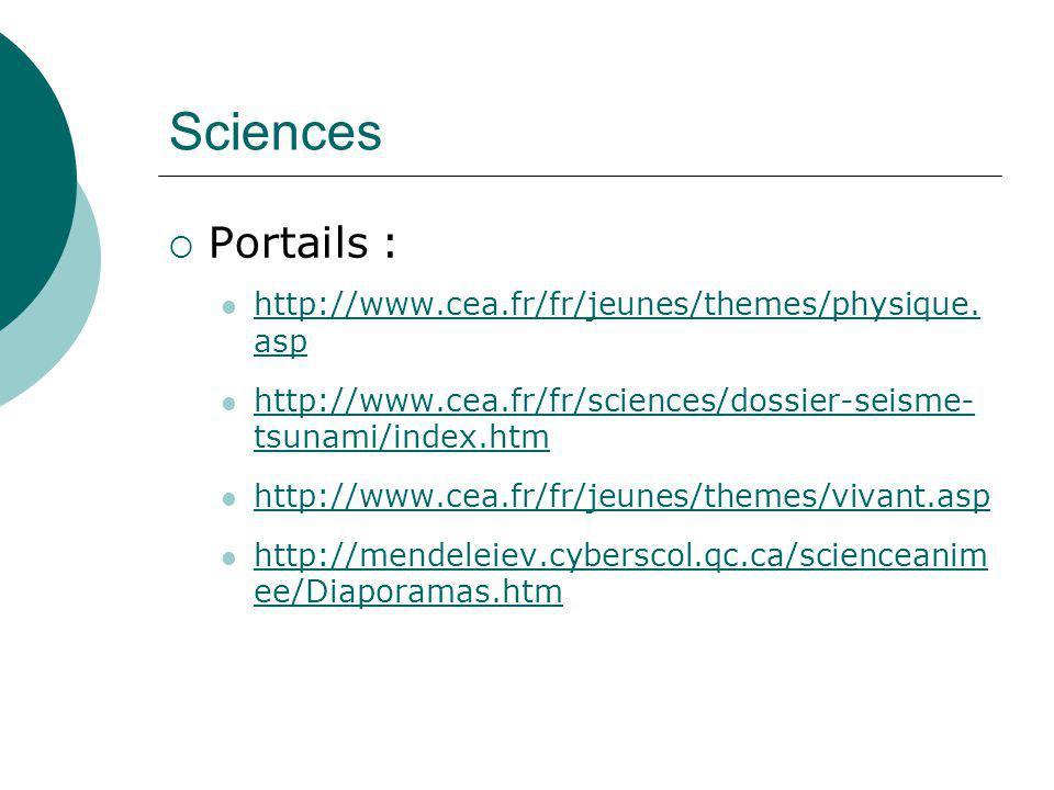 Sciences Portails : http://www.cea.fr/fr/jeunes/themes/physique.asp