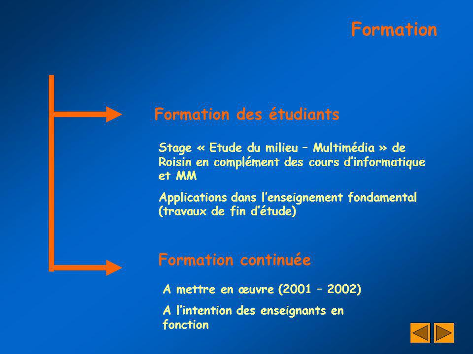 Formation Formation des étudiants Formation continuée
