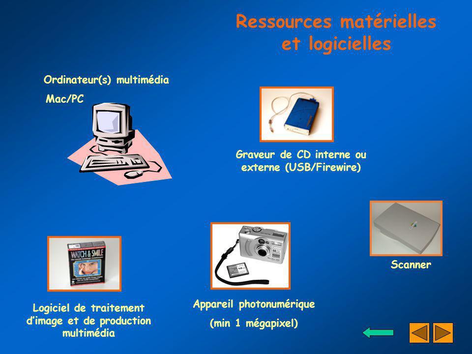 Ressources matérielles et logicielles