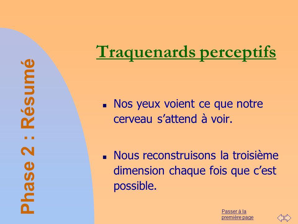 Traquenards perceptifs