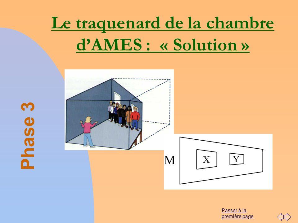Le traquenard de la chambre d'AMES : « Solution »