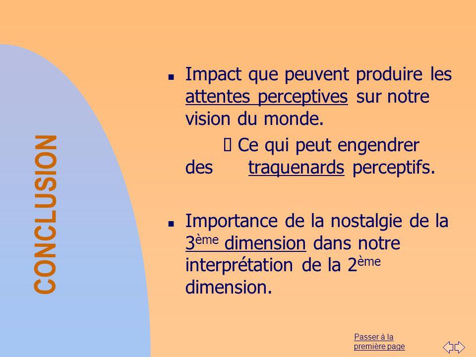 01/04/2017 Impact que peuvent produire les attentes perceptives sur notre vision du monde. Ø Ce qui peut engendrer des traquenards perceptifs.