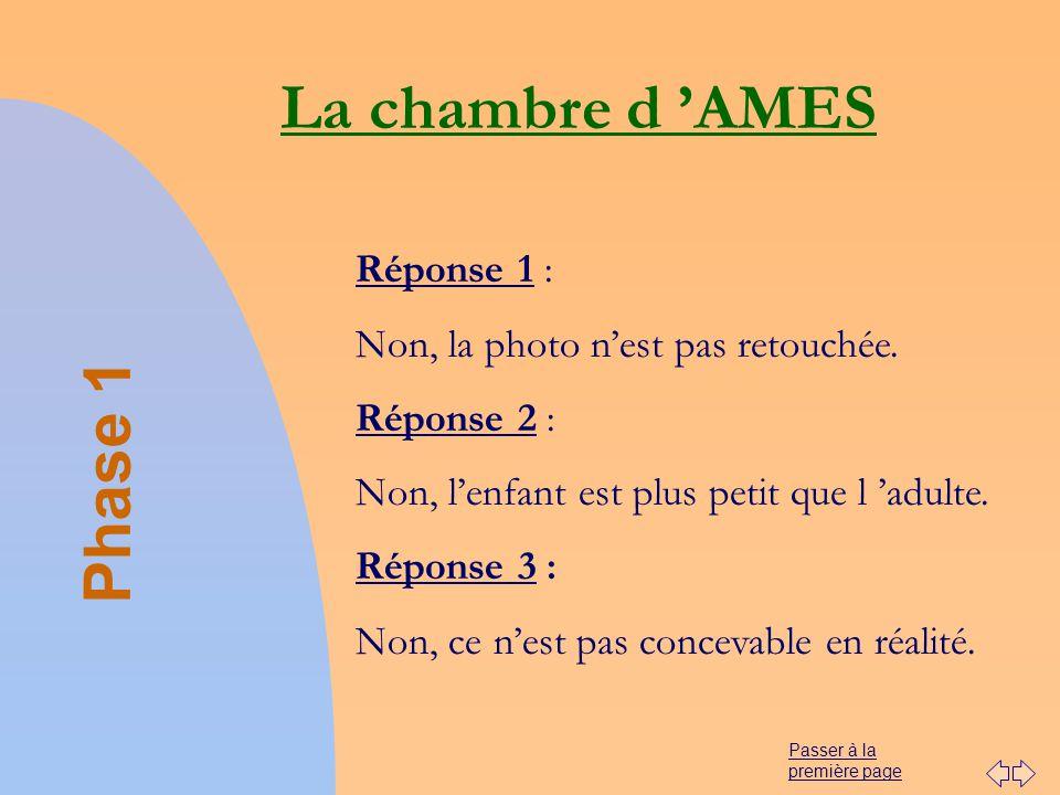 La chambre d 'AMES Phase 1 Réponse 1 :