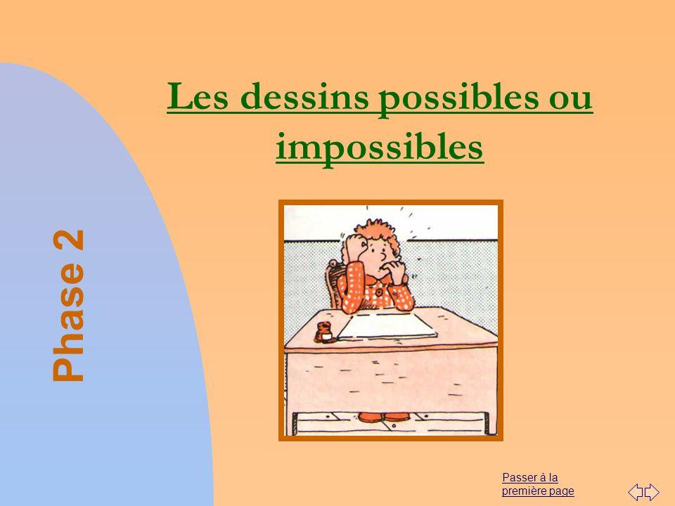 Les dessins possibles ou impossibles