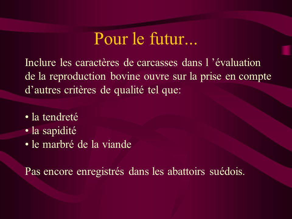 Pour le futur...