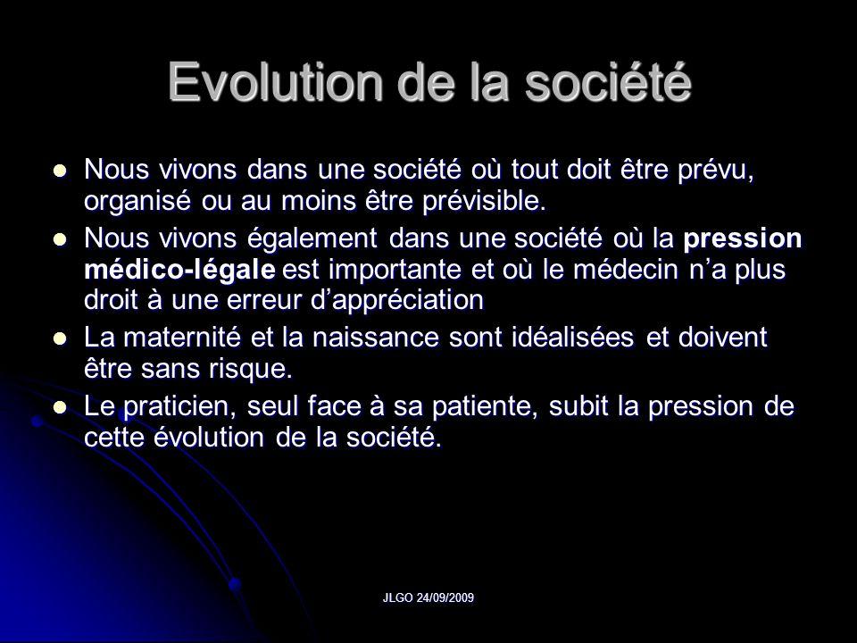Evolution de la société