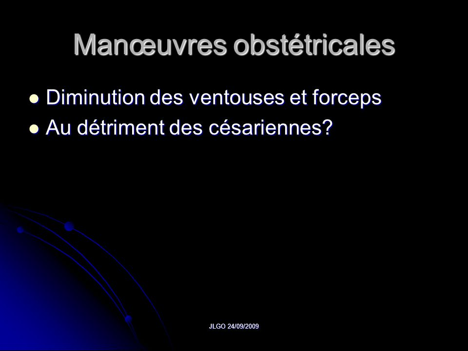 Manœuvres obstétricales