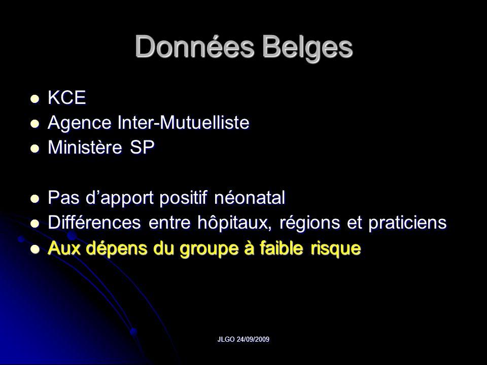 Données Belges KCE Agence Inter-Mutuelliste Ministère SP