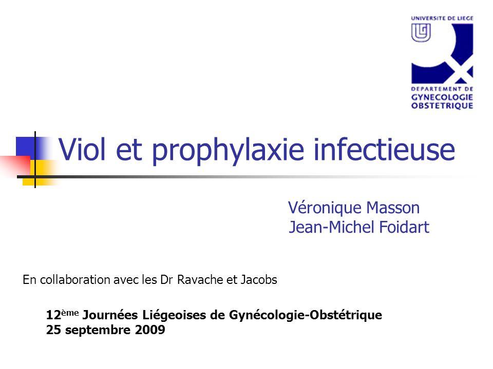 Viol et prophylaxie infectieuse
