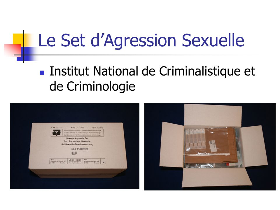 Le Set d'Agression Sexuelle