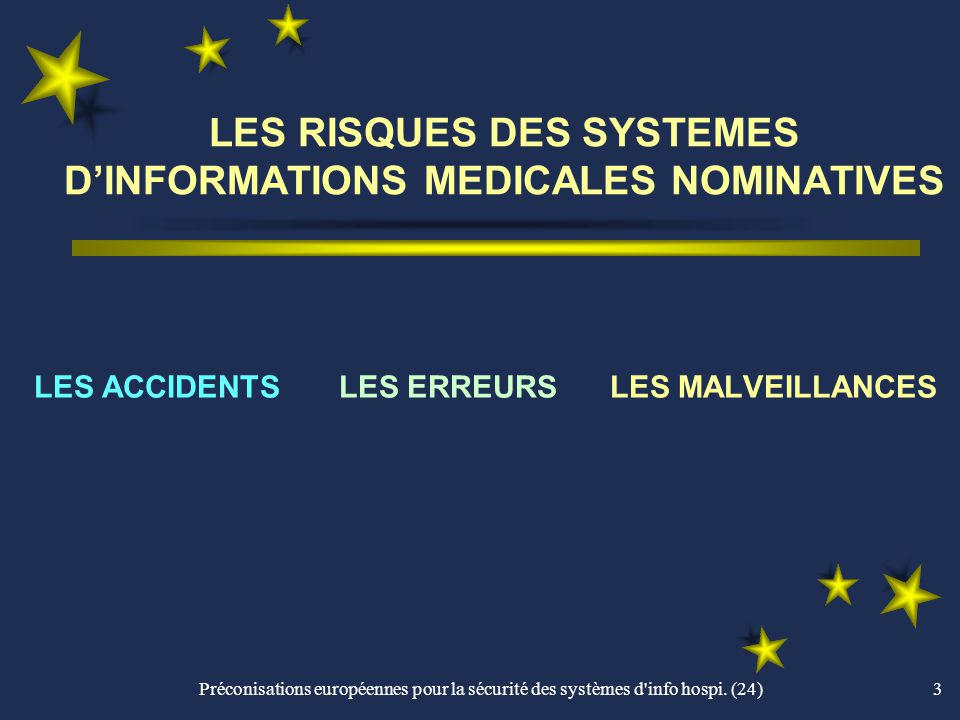 LES RISQUES DES SYSTEMES D'INFORMATIONS MEDICALES NOMINATIVES