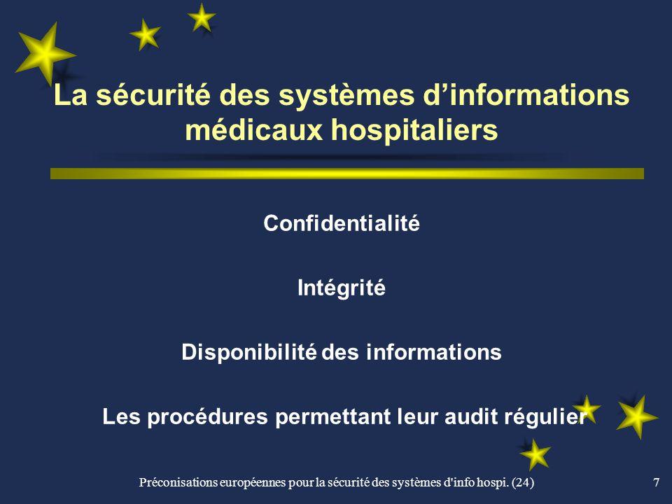 La sécurité des systèmes d'informations médicaux hospitaliers